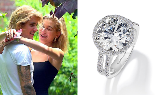 Could this be the ring Justin Bieber proposes to Hailey with?